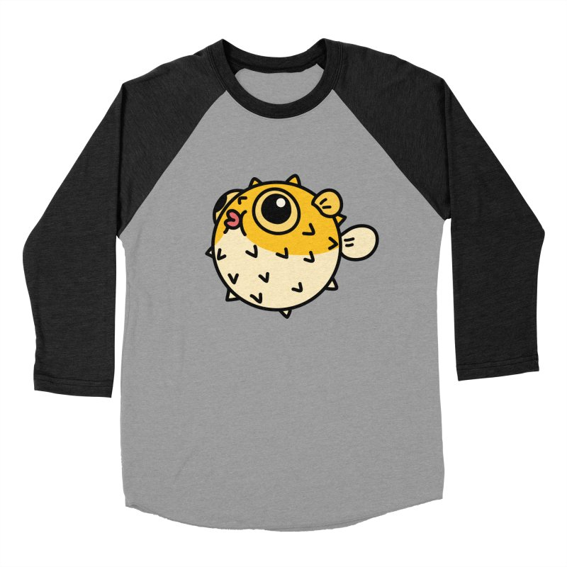Pufferfish Men's Baseball Triblend T-Shirt by Casandra Ng
