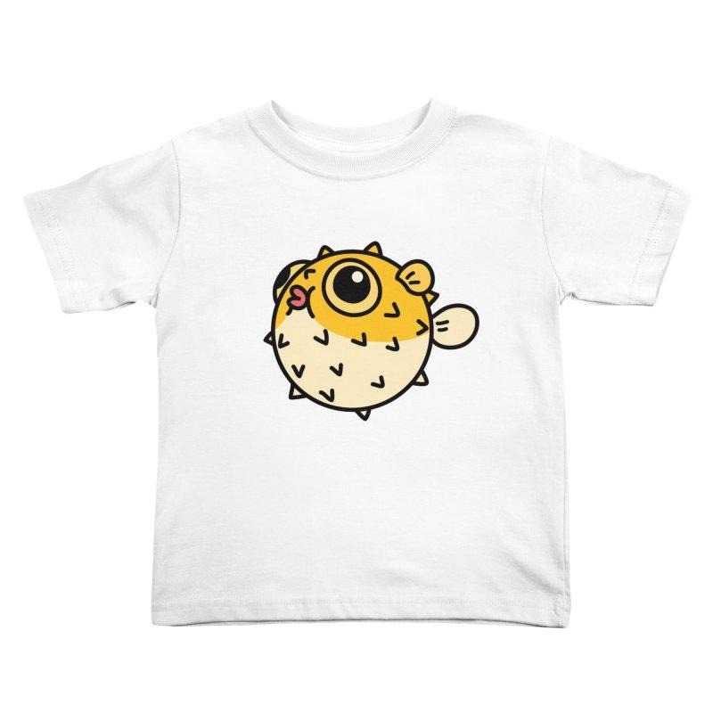 Pufferfish Kids Toddler T-Shirt by Casandra Ng