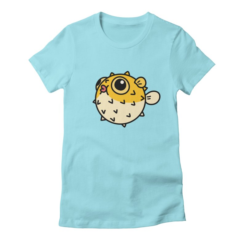 Pufferfish Women's Fitted T-Shirt by Casandra Ng