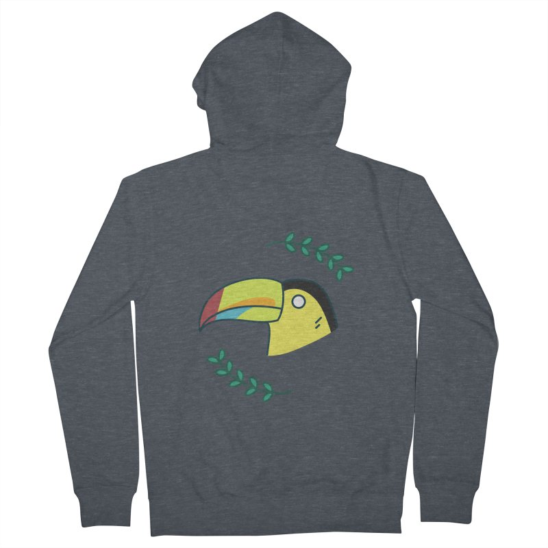 Toucan Men's French Terry Zip-Up Hoody by Casandra Ng