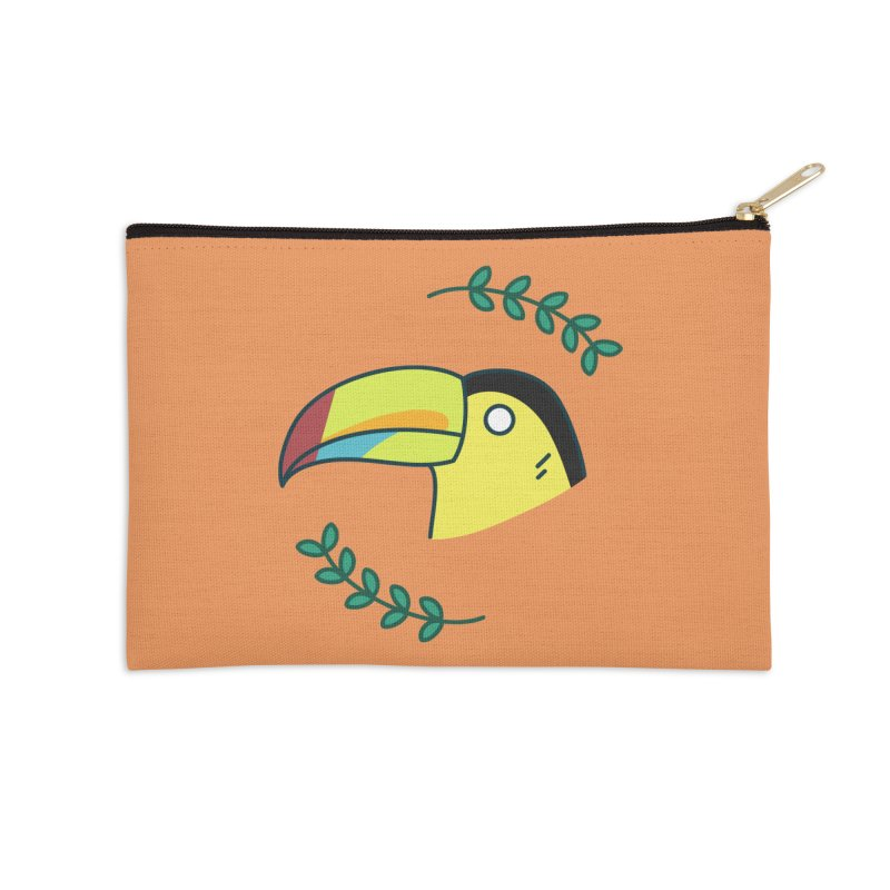 Toucan Accessories Zip Pouch by Casandra Ng