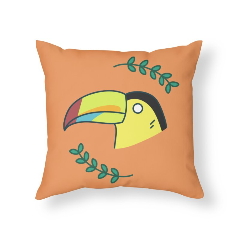 Toucan Home Throw Pillow by Casandra Ng