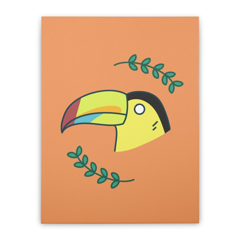 Toucan Home Stretched Canvas by Casandra Ng