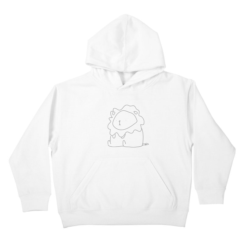 Lion Kids Pullover Hoody by Casandra Ng
