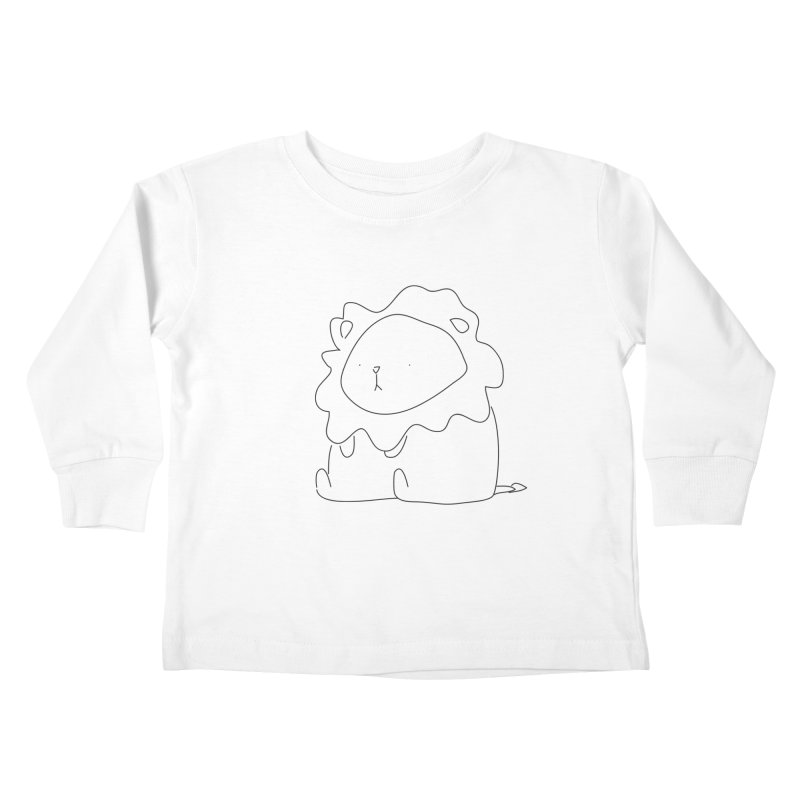 Lion Kids Toddler Longsleeve T-Shirt by Casandra Ng