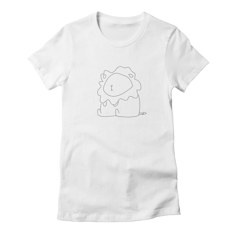 Lion Women's Fitted T-Shirt by Casandra Ng