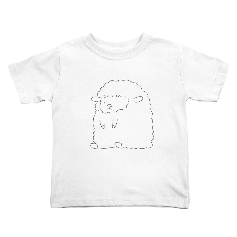 Sheep Kids Toddler T-Shirt by Casandra Ng