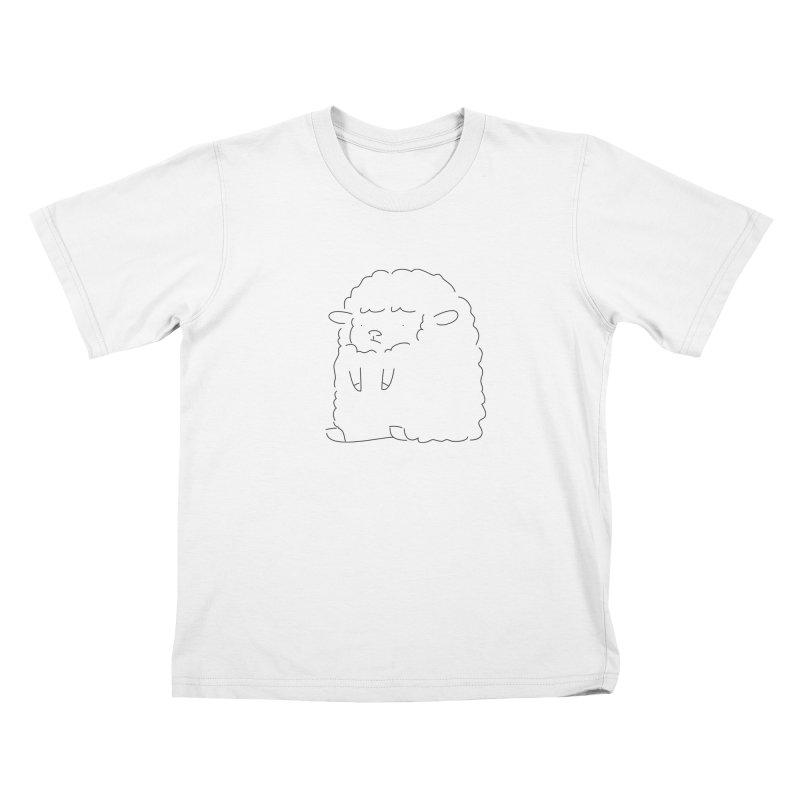 Sheep Kids T-shirt by Casandra Ng