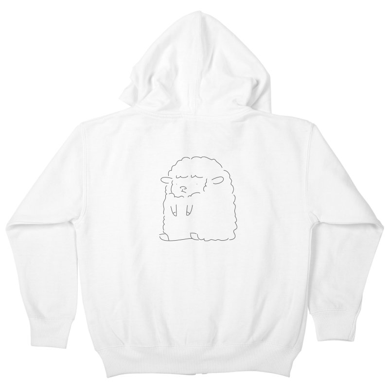 Sheep Kids Zip-Up Hoody by Casandra Ng