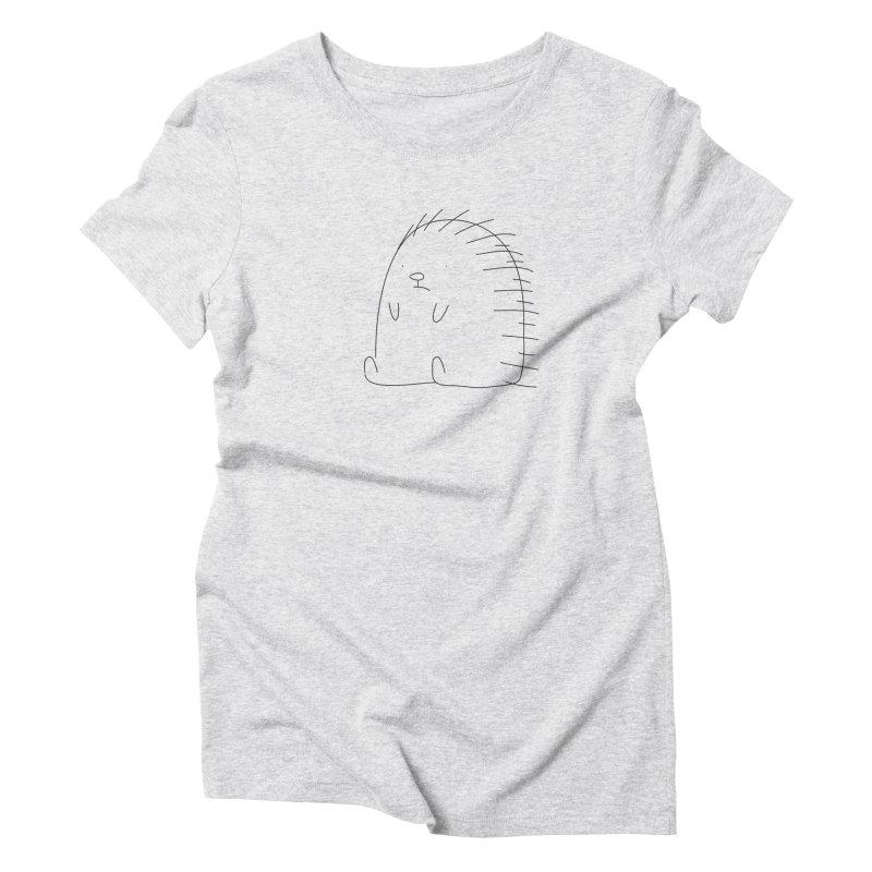 Porcupine Women's Triblend T-shirt by Casandra Ng