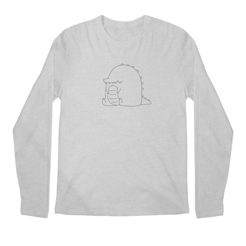 Crocodile Men's Longsleeve T-Shirt by Casandra Ng