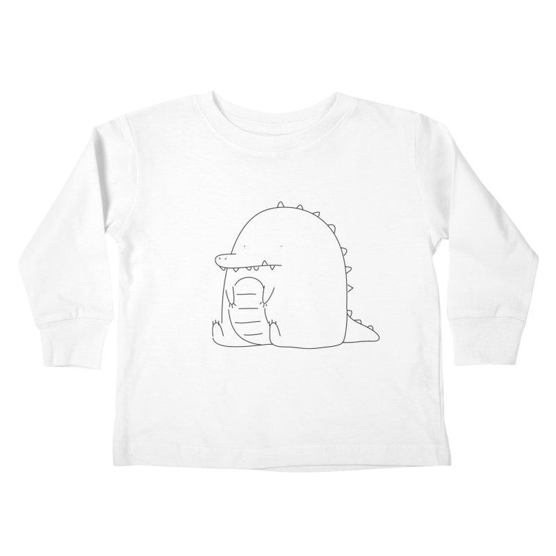 Crocodile Kids Toddler Longsleeve T-Shirt by Casandra Ng