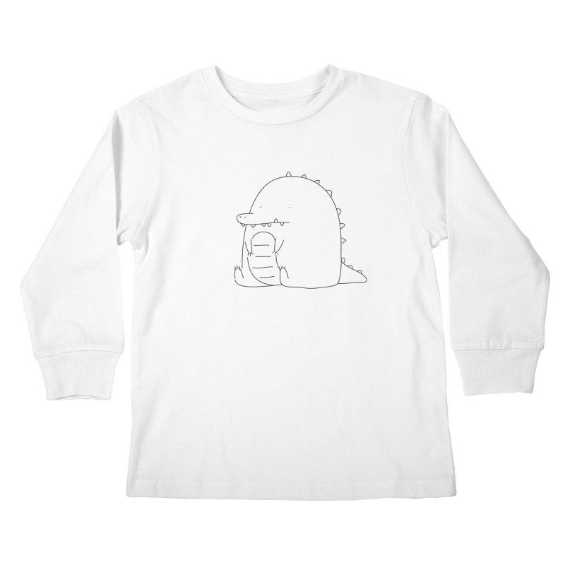 Crocodile Kids Longsleeve T-Shirt by Casandra Ng