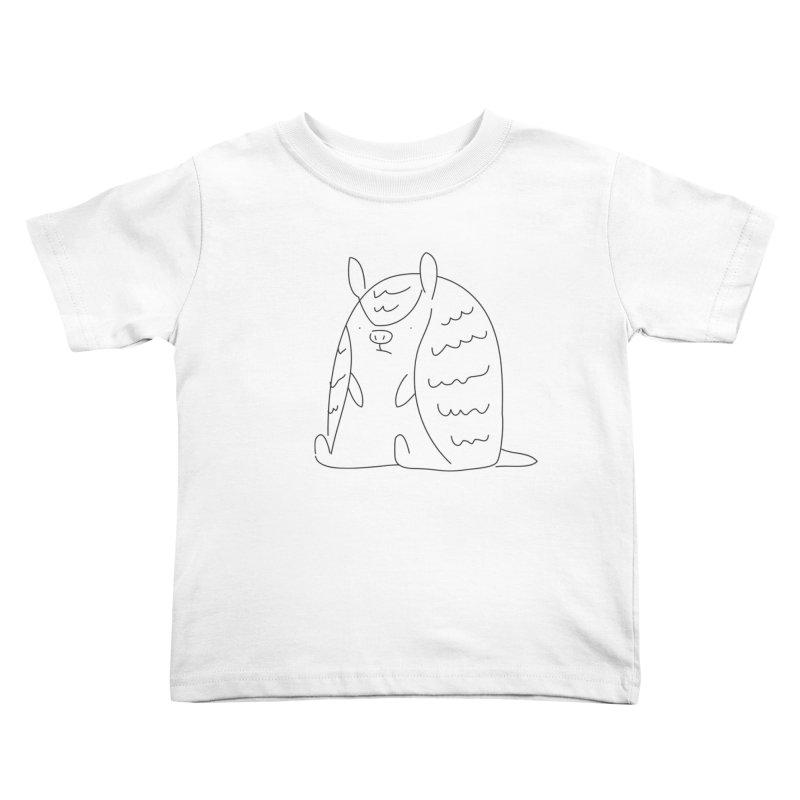 Armadillo Kids Toddler T-Shirt by Casandra Ng