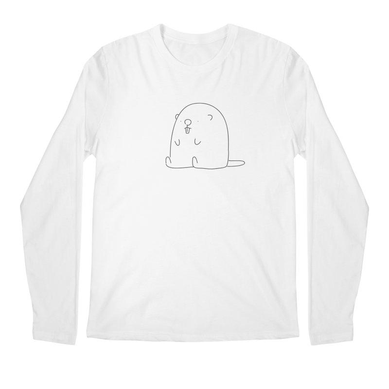 Beaver Men's Longsleeve T-Shirt by Casandra Ng