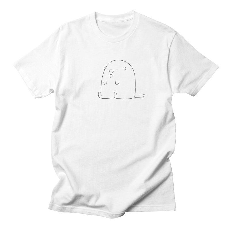 Beaver Men's T-Shirt by Casandra Ng