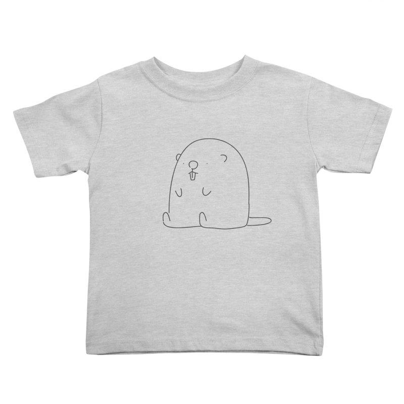 Beaver Kids Toddler T-Shirt by Casandra Ng