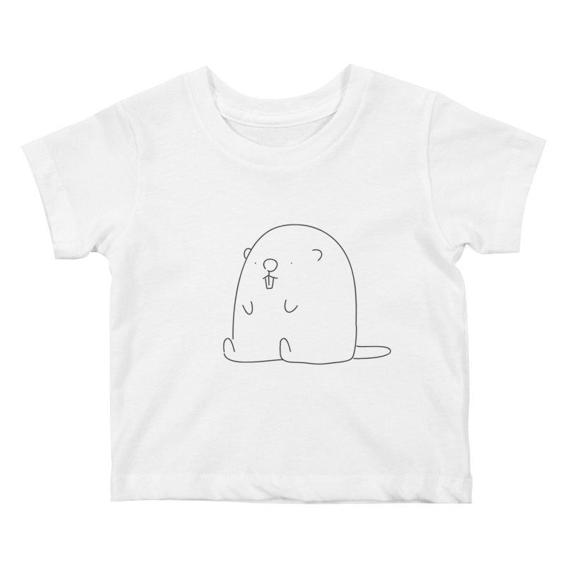 Beaver Kids Baby T-Shirt by Casandra Ng