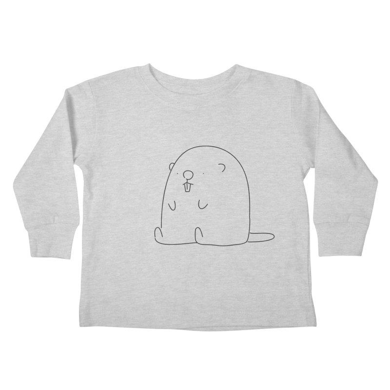 Beaver Kids Toddler Longsleeve T-Shirt by Casandra Ng