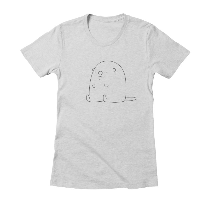 Beaver Women's Fitted T-Shirt by Casandra Ng