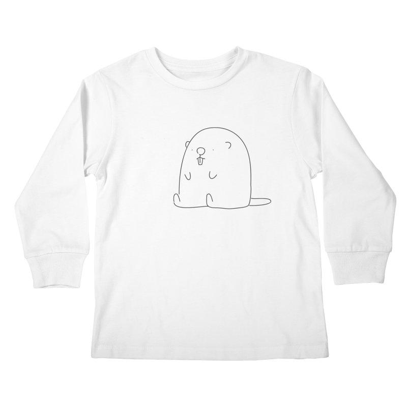 Beaver Kids Longsleeve T-Shirt by Casandra Ng