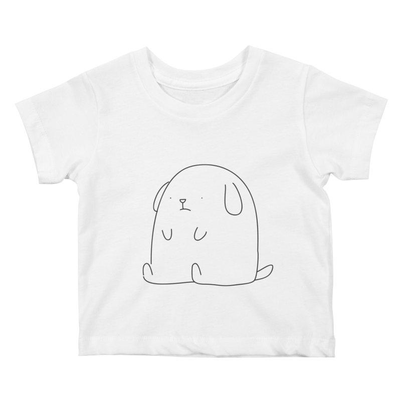 Dog Kids Baby T-Shirt by Casandra Ng