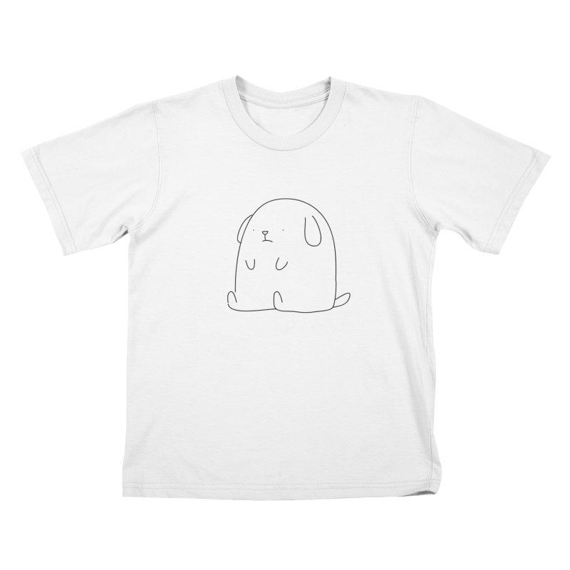 Dog Kids T-shirt by Casandra Ng