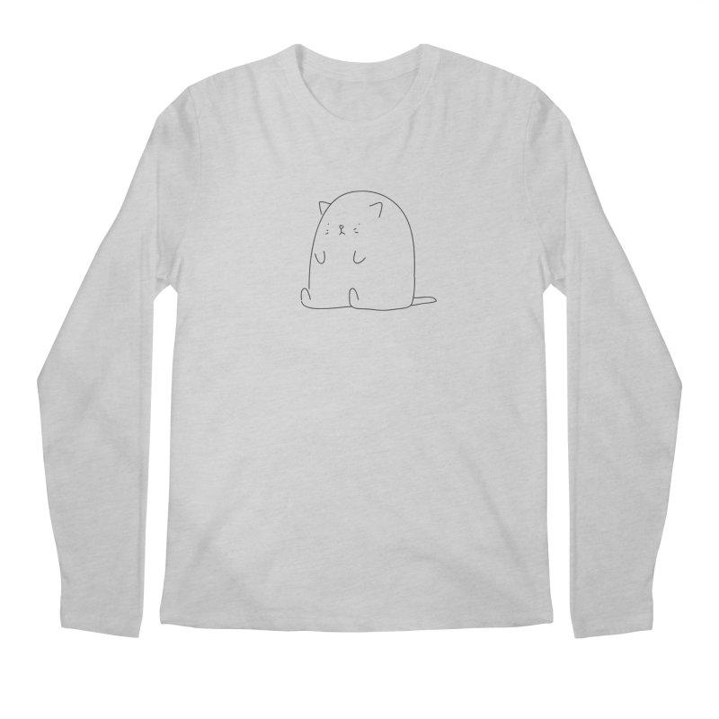 Cat Men's Longsleeve T-Shirt by Casandra Ng