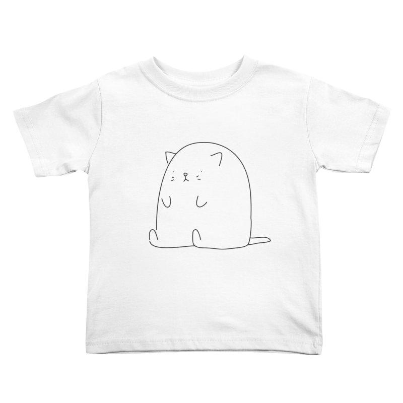 Cat Kids Toddler T-Shirt by Casandra Ng