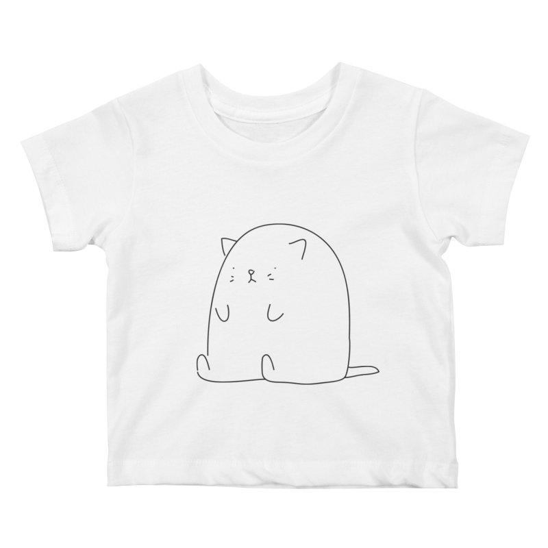 Cat Kids Baby T-Shirt by Casandra Ng