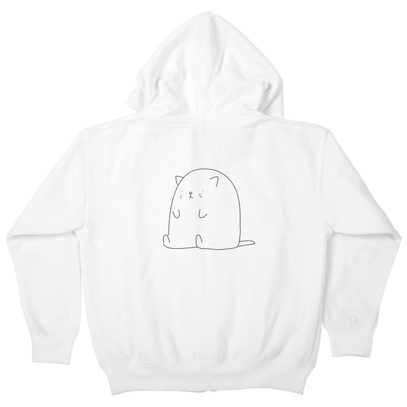 Cat Kids Zip-Up Hoody by Casandra Ng