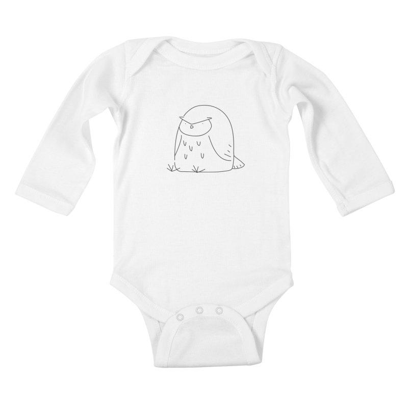 Owl Kids Baby Longsleeve Bodysuit by Casandra Ng