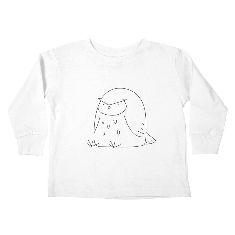 Owl Kids Toddler Longsleeve T-Shirt by Casandra Ng