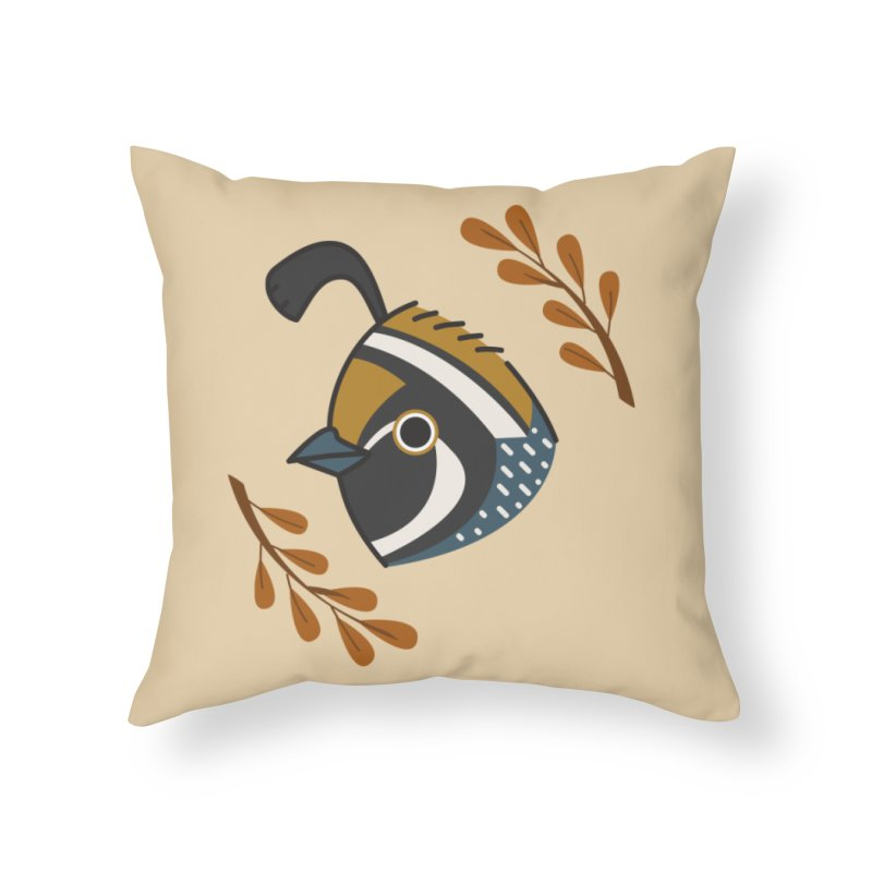Quail Home Throw Pillow by Casandra Ng