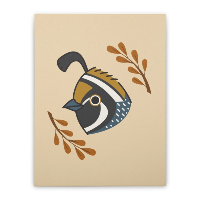 Quail Home Stretched Canvas by Casandra Ng