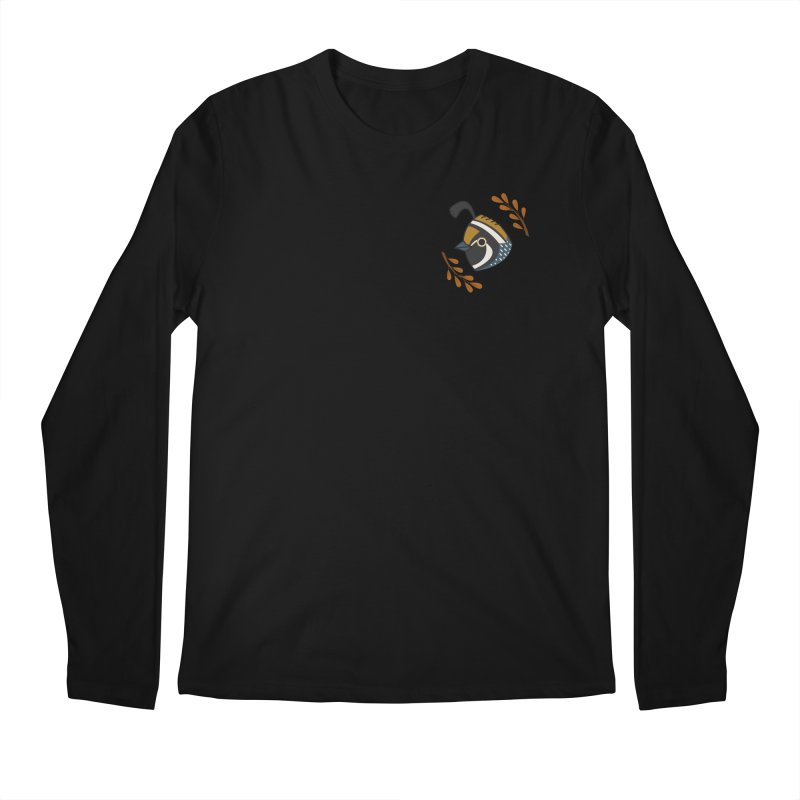 Quail Men's Longsleeve T-Shirt by Casandra Ng