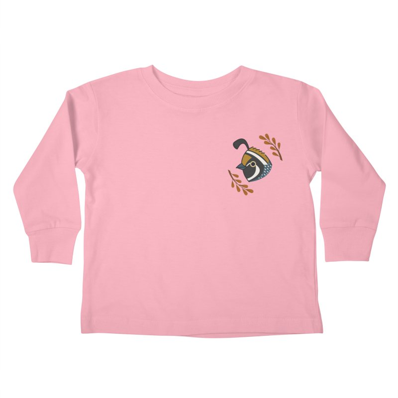 Quail Kids Toddler Longsleeve T-Shirt by Casandra Ng