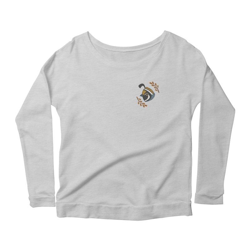 Quail Women's Scoop Neck Longsleeve T-Shirt by Casandra Ng