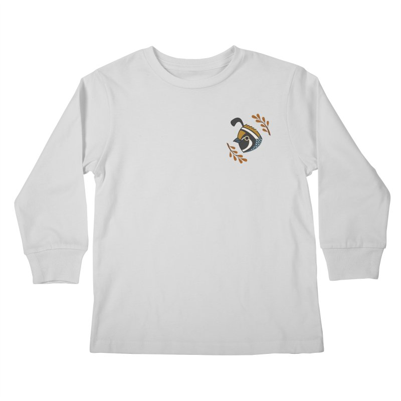 Quail Kids Longsleeve T-Shirt by Casandra Ng