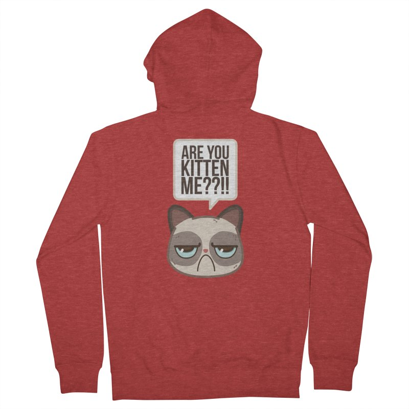 Are you kitten me? Men's Zip-Up Hoody by Casandra Ng