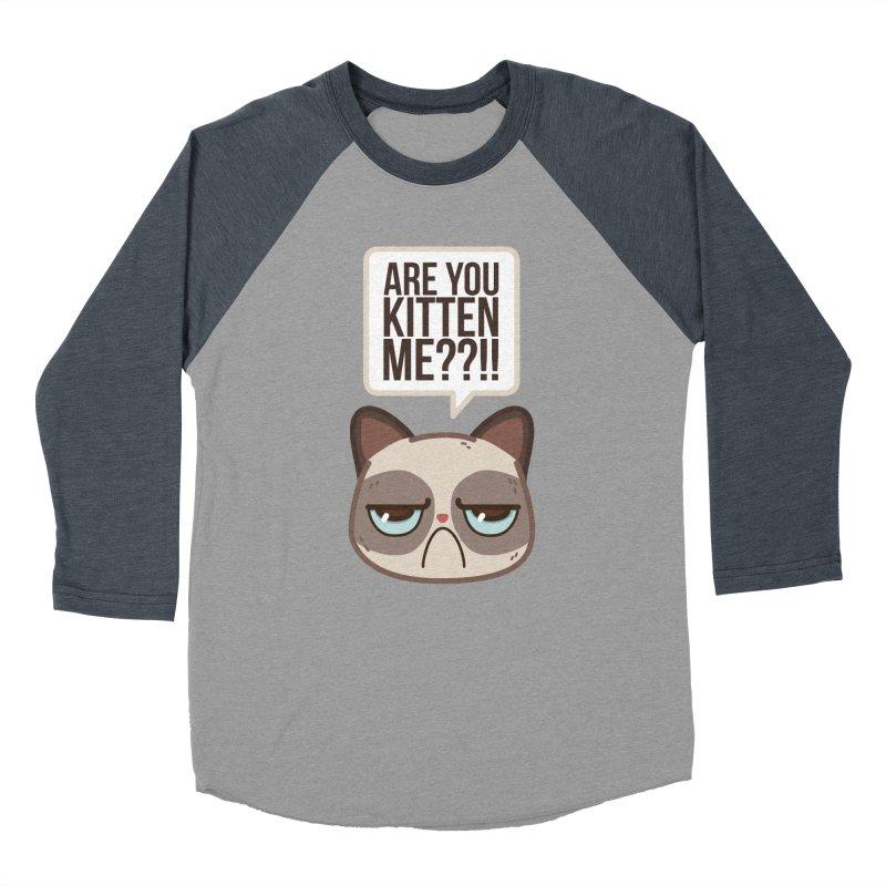 Are you kitten me? Men's Baseball Triblend T-Shirt by Casandra Ng