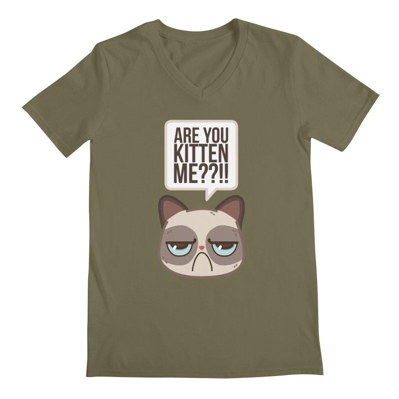 Are you kitten me? Men's V-Neck by Casandra Ng