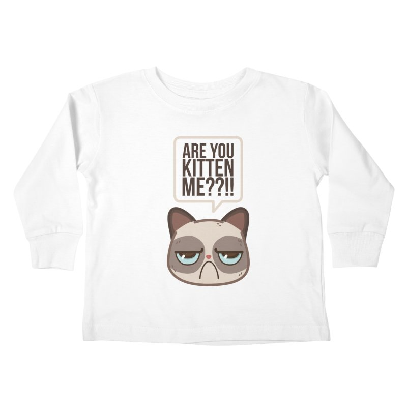 Are you kitten me? Kids Toddler Longsleeve T-Shirt by Casandra Ng