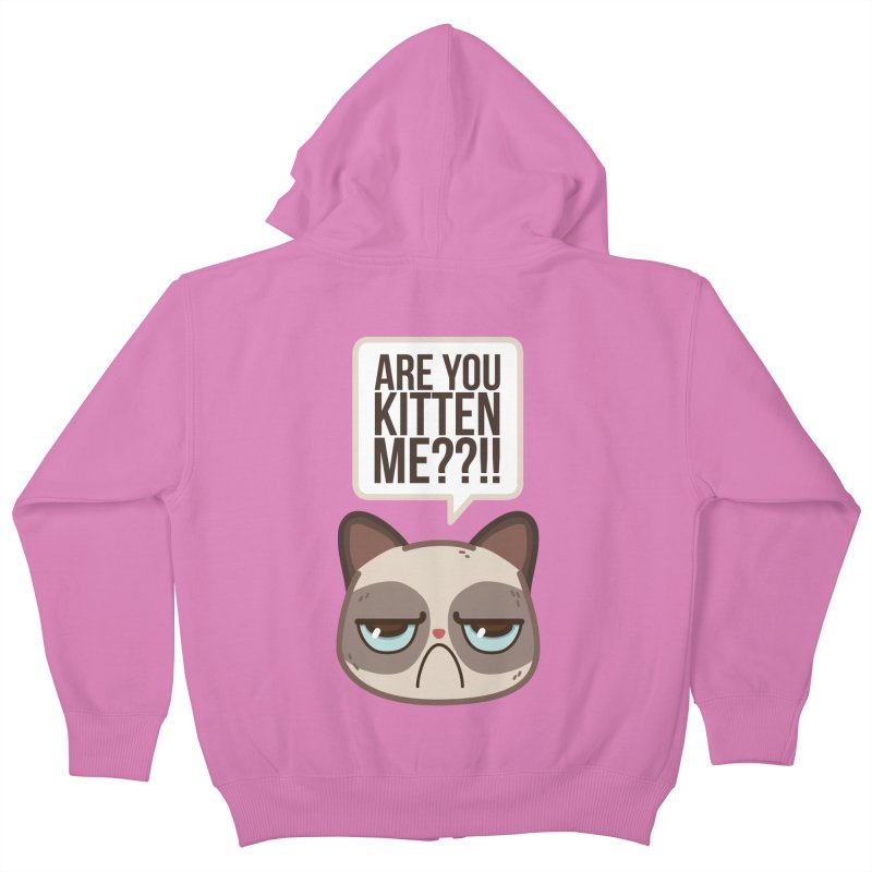 Are you kitten me? Kids Zip-Up Hoody by Casandra Ng