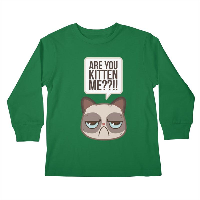 Are you kitten me? Kids Longsleeve T-Shirt by Casandra Ng
