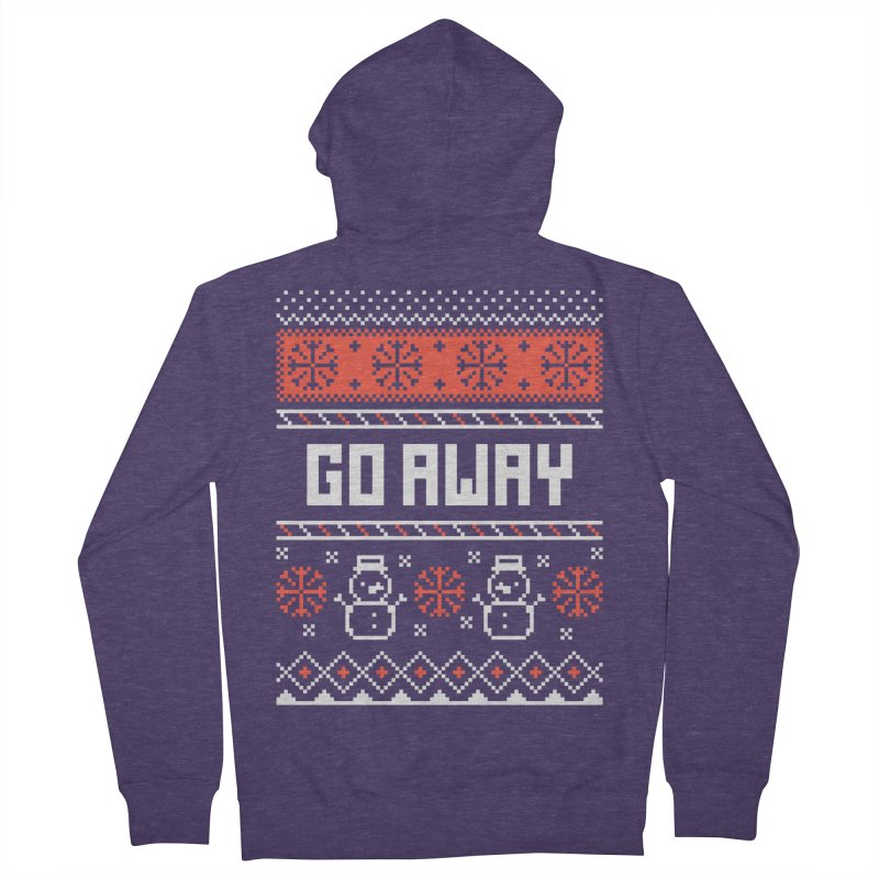 Go Away Men's French Terry Zip-Up Hoody by Casandra Ng