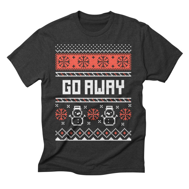 Go Away Men's Triblend T-Shirt by Casandra Ng
