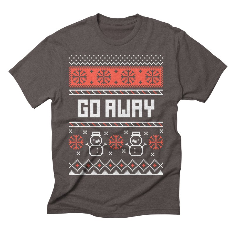 Go Away Men's Triblend T-shirt by Casandra Ng