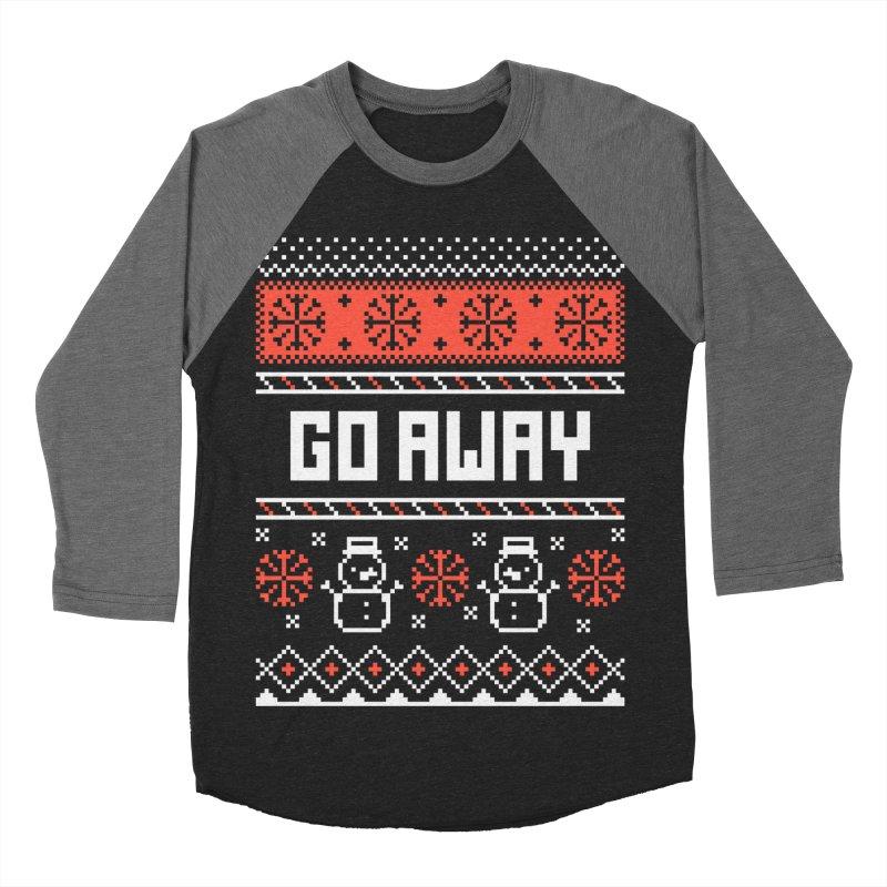 Go Away Men's Baseball Triblend T-Shirt by Casandra Ng