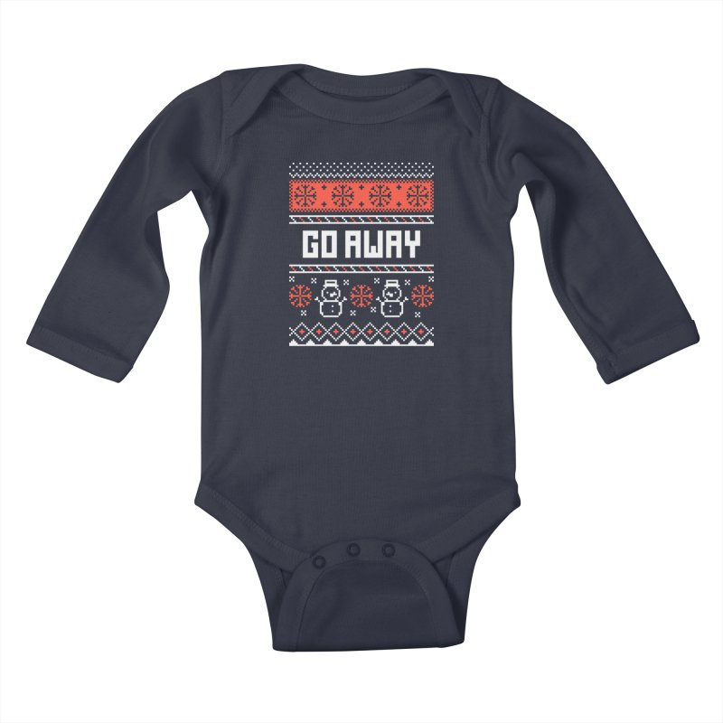 Go Away Kids Baby Longsleeve Bodysuit by Casandra Ng